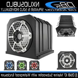 "DS18 NXL10SUBLD 10"" Black ATV Sub woofer Box Marine RGB LED"