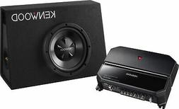 Kenwood P-W101B 10-Inch Loaded Vented Subwoofer & Amp Packag