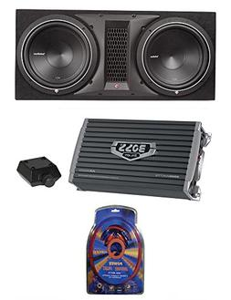 "Rockford Fosgate P1-2X12 12"" 1000W Dual Subwoofer + Box + 30"