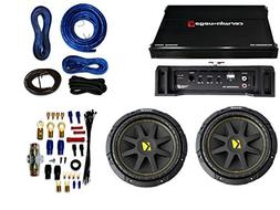 "Pair of Kicker C104 600W 10"" Subwoofers+1000W Mono Amplifier"