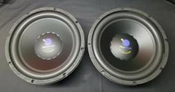 """Pair of 12"""" Planet Audio Dual 6OHM Subwoofers - NEW OLD STOC"""