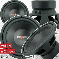 1x of SoundXtreme 12 Inch Car Audio with DVC Power 2000 Watt