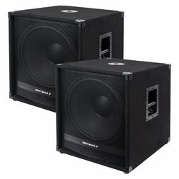 """Sound Town Pair of 18"""" 4800W Powered Subwoofers w/ Class-D A"""