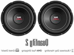 "Pair of Pyle PLPW10D Car Subwoofer 1000W 4 Ohm 10"" Bass Audi"