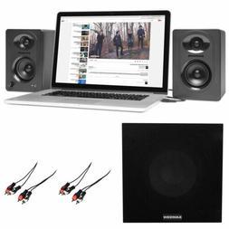 """Pair Samson M30  3"""" Powered Studio Monitor Speakers+Powered"""