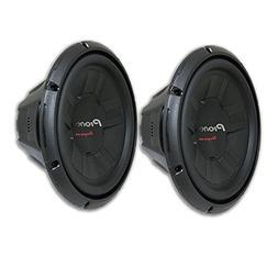 """2 x Pioneer TS-W311D4 12-Inch 12"""" Dual 4-Ohm Car Audio Sub w"""
