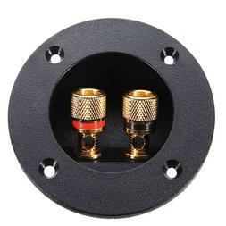 Plug Round Boxes With 2 Banana Jack Subwoofer Speaker Termin
