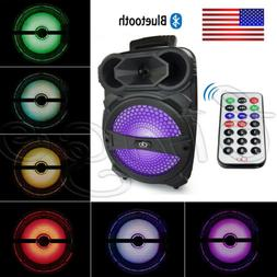 "Portable PA Karaoke Bluetooth Speaker w/ 8"" Subwoofer Sound"