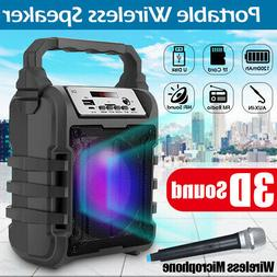 Portable Wireless bluetooth Speaker Subwoofer With Mic Loud