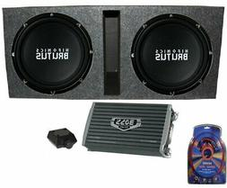 "Soundstream PSB.10A 500 Watt 10/"" Amplified Shallow Truck Subwoofer Enclosure Box"