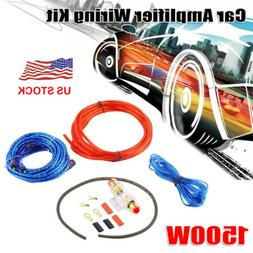 Powerful 1500W Car Audio Amplifier Wiring Kit Subwoofer AMP