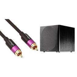Polk Audio PSW505 Powered Subwoofer with AmazonBasics Subwoo