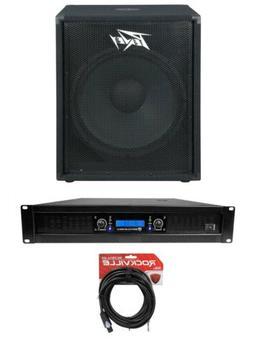 "Peavey PV 118 18"" 800 Watt Pro DJ PA Subwoofer Sub+Power Amp"