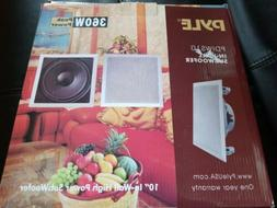Pyle In-Wall / In-Ceiling 10'' High Power Subwoofer System