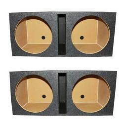 Q Power QBOMB15V Dual 15-Inch Vented Speaker Box from High Grade MDF Wood with Durable Bed Liner Spray
