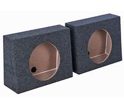 "Q-POWER QTW10 Single 10"" Sealed Car Audio Subwoofer Sub Box"
