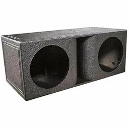 QPower QBomb Dual Vented Horn Ported Subwoofer Box Finished