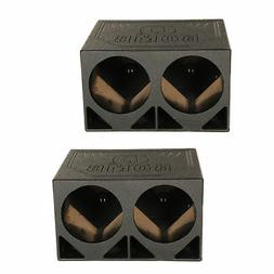 Q Power QBOMB12TB Dual 12-Inch Triangle Ported Subwoofer Box