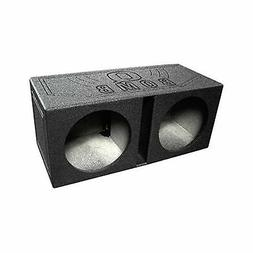Q Power QBOMB12V Dual 12-Inch Vented Speaker Box with Durabl