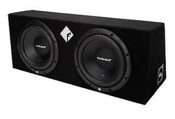 Rockford R12X10 10-Inch 400 Watt Dual Loaded Enclosure, Set