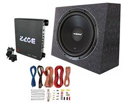 "Rockford Fosgate R1S4-10 10"" 300W Subwoofer + Sealed Box + M"