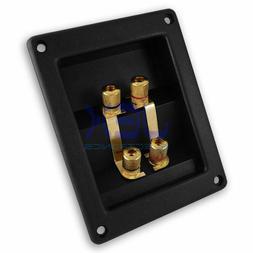 Recessed Twin Speaker Quad/4X Terminal Connector Plate Bindi