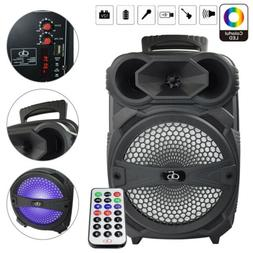"Rechargeable Portable Bluetooth Speaker With 8"" Subwoofer So"