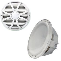 """Wet Sounds Revo 10"""" Subwoofer & Grill - White Subwoofer & Wh"""