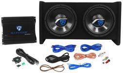 "Rockville RV10.2A 1000w Dual 10"" Car Subwoofer Enclosure+Mon"
