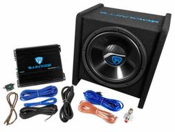 "Rockville RV12.1B 600w 12"" Loaded Car Subwoofer Enclosure+Mo"