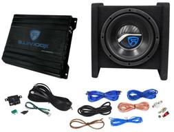 "Rockville RV8.1A 400w 8"" Loaded Car Subwoofer Enclosure+Mono"