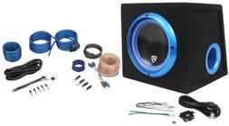 "Rockville RVB8.1A 8"" 300W Powered Amplified Car Subwoofer Sy"