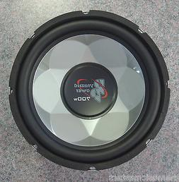 """Single 12"""" inch 4 ohm Chrome Car Audio Poly Woofer Subwoofer"""