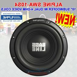 "SINGLE ALPINE BASSLINE SERIES SWA-10S4 - 750W 10"" SUBWOOFER"
