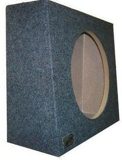 """Single Sub Speaker Truck Subwoofer Box 10"""" Sealed Woofer Enc"""