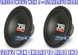 "MTX 12"" Single 2 OHM Subwoofer 200W RMS"