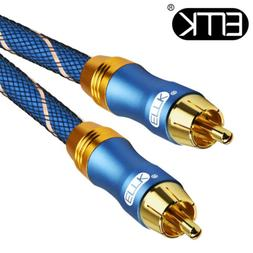 EMK Coaxial Audio Cable RCA to RCA Cable Speaker TV DVD Subw