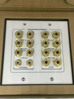 Mediabridge Speaker Wall Plate W/Binding Posts, Banana Plug