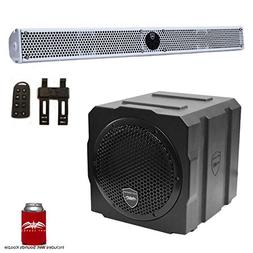 Wet Sounds Package - White Stealth 10 Ultra HD Sound Bar w/R