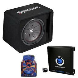 Kicker 12 Inch 1000W Subwoofer Box + 1500W Mono Amplifier, R