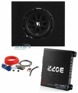"Kicker 10"" 300W Subwoofer + Q Power Truck Enclosure + Boss 1"