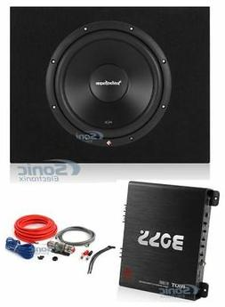"Rockford Fosgate 12"" 500W Subwoofer + Sealed Sub Box + Boss"