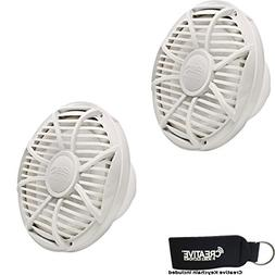 "Wet Sounds Subwoofer Package: Two 10"" White 4-ohm Free Air S"
