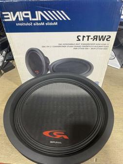 Alpine SWR-T12 12 inch 1800 Watt 4 Ohm Shallow Car Audio Mou