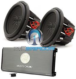 pkg Soundstream T1.6000DL Monoblock Amplifier + Pair of T5.1