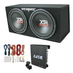 "MTX TNE212D 12"" 1200W Dual Loaded Car Subwoofer Enclosure w/"