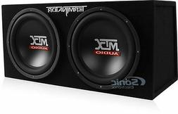 MTX TNE212D 12-Inch 1200-Watt RMS Car Audio Dual Loaded Subw
