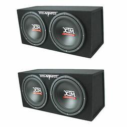MTX TNE212D 12-Inch 1200-Watt Car Audio Dual Loaded Subwoofe