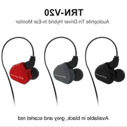 TRN V20 EarHIFI Eight-Unit Ring Iron Headphones Phone Subwoo