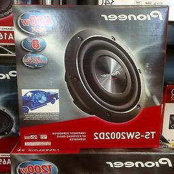 """Pioneer TSSW2002D2 600W 8"""" Shallow Mount Dual 2 ohm Subwoofe"""